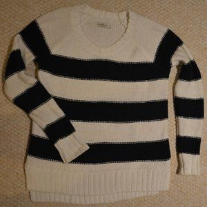 A&F Blue/white striped sweater